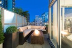 Patio at 1206 - 822 Seymour Street, Downtown VW, Vancouver West